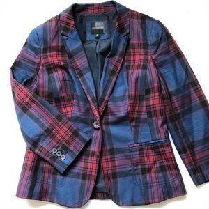 Red/Blue/Black Plaid Blazer
